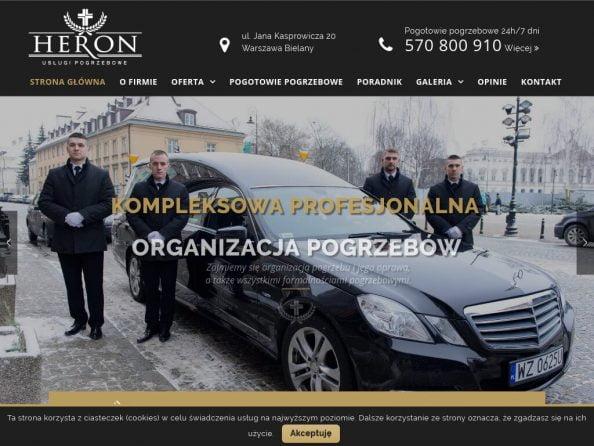 HERON Zakład Pogrzebowy Warszawa (Bielany, Żoliborz, Bródno, Wola, Ochota, Bemowo) - usługi pogrzebowe