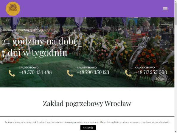 OLIMP Zakład Pogrzebowy Wrocław, Strzelin, Usługi Pogrzebowe