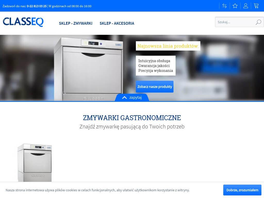 CLASSEQ - Zmywarki gastronomiczne_ kapturowe, podblatowe, przemysłowe _ CLASSEQ
